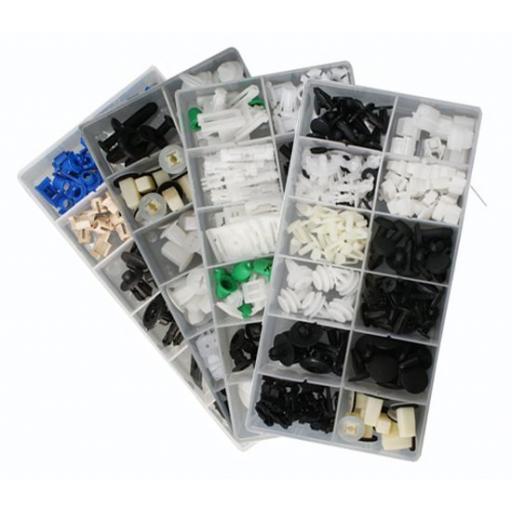 1700 Assorted Trim Clips - Various Makes - Plastic Fastener Retainer Fixing Bodyshop Car Van Auto Crash Repair