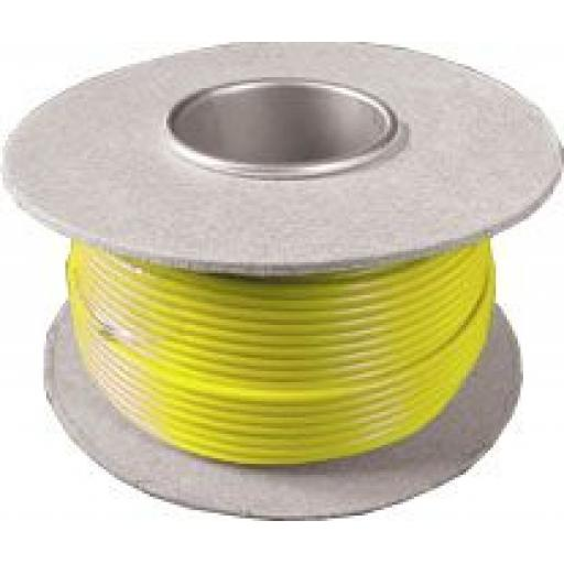 Single Core Cable 14/030 x 50m Yellow - Car Van Truck Tractor lorry Automotive Auto Electric Marine Cable Round Trailer Wire Wiring  PVC