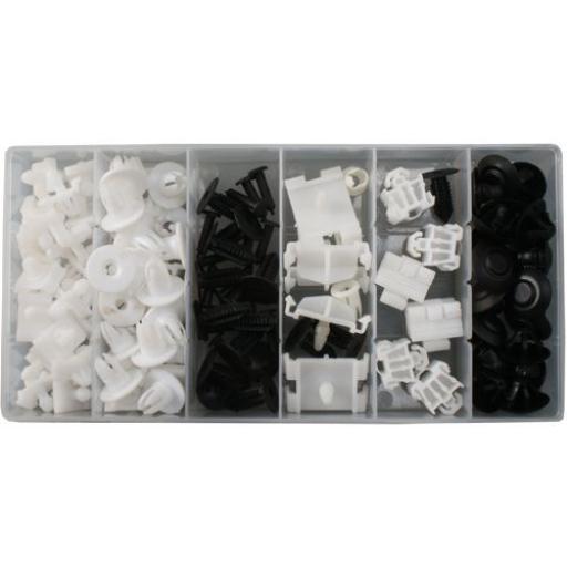 Assorted Trim Clips - Mercedes Benz (95pc) - Plastic Fastener Retainer Fixing Bodyshop Car Van Auto Crash Repair