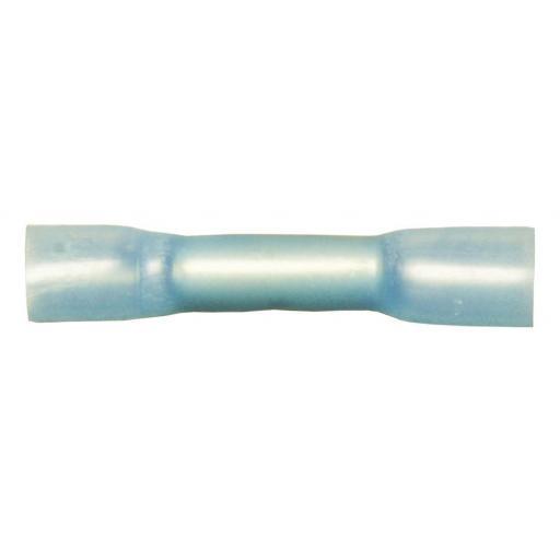 Blue Heatshrink Butt Connector   - Joiner Wiring Terminals Crimp 3:1 Adhesive Lined  Heat Shrink WaterproofBlue