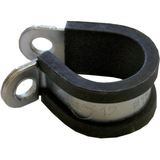 M25 Rubber Lined P Clips 25mm (50) Hosing Pipe Tubing Brake Pipe Tube Cable Wire Mounting Mount Bracket Clamp