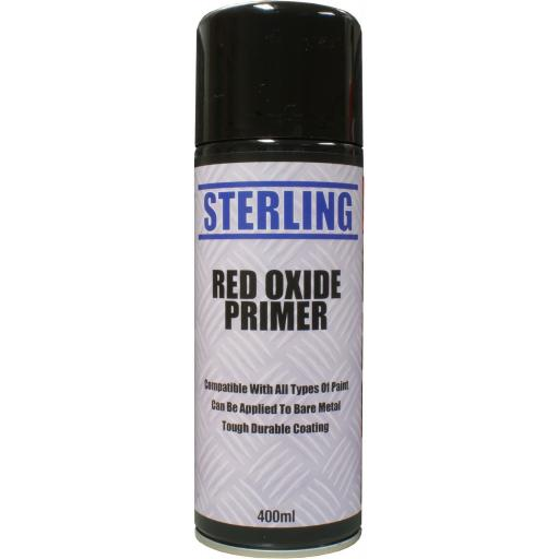 Sterling Paint - Red Oxide Aerosol/Spray (400ml) - Car Van Auto Truck Lorry Motorbike Boat Bodyshop Paint