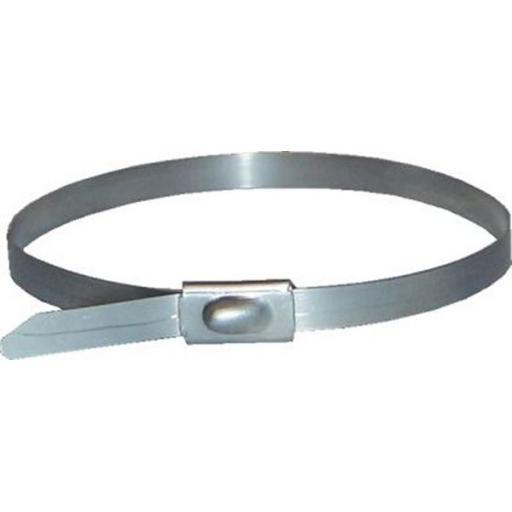 Stainless Steel Cable Ties 200 x 4.6mm - Metal Cable Ties Zip Wrap Exhaust Heat Straps Marine Grade
