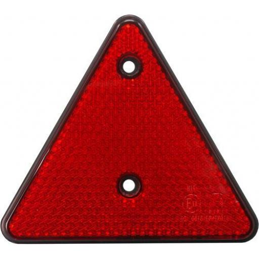 Red Reflector Triangle (5) Screw-fit Rear Triangle for Trailers Caravans Gatepost Towing Safety