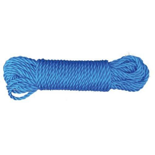 Polypropylene rope 10mm x 27m - Poly Rope  Coils Tarpaulin Camping Agriculture Marine Blue