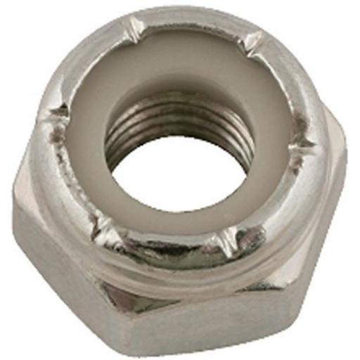 Nylon Locking Nuts 3/8 UNF Bzp (50) - Imperial Nylock Lock Locking Nyloc Standard Hex BZP use with bolts, washers, set screws,nuts,fasteners