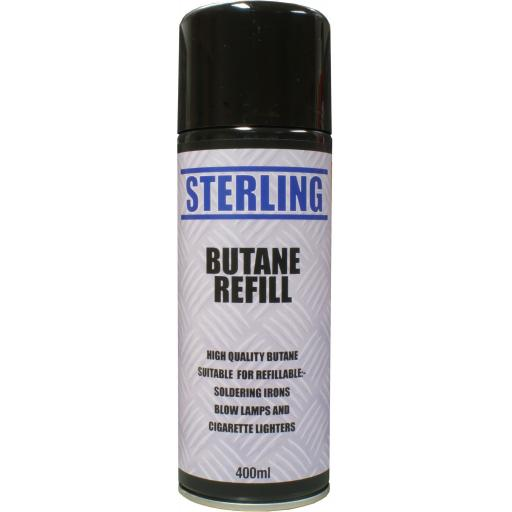 Butane Gas (400ml) Suit soldering iron - DIY Electronics Plumbing Mechanic Car electric Soldering electrical