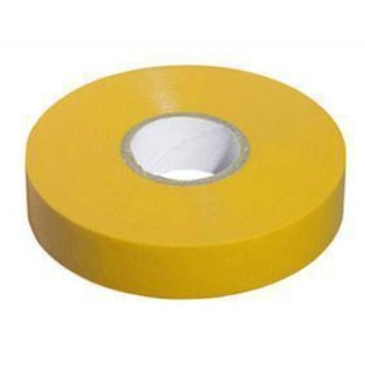 PVC insulation Tape BS3924 Yellow 19mm X 20m - Electrical Insulating Flame Retardant Cable Repair Electric Wiring Colour