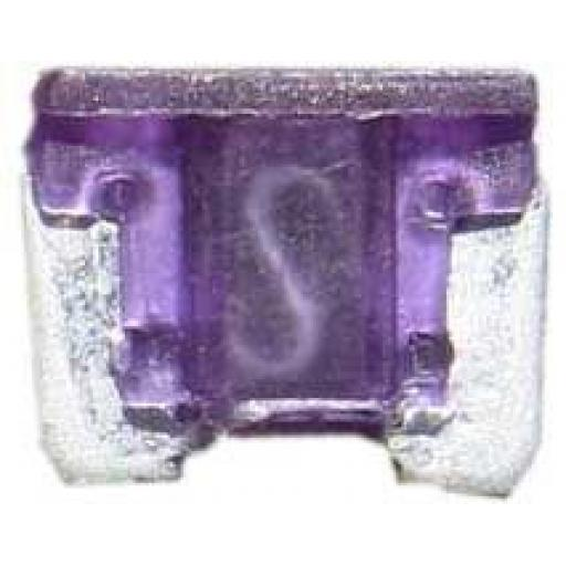 Micro Blade Fuses 3 Amp ( Purple) - 3A Purple Micro Small  Blade Wedge Spade Fuse - Car Van Truck  Auto SUV Low Profile  Wire Cable Wiring Electric
