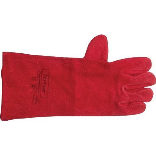 Welding Gauntlets (1 Pair of gloves)Mig  TIG Welders Leather Welding Gauntlet Work Safety Gloves Lined stove