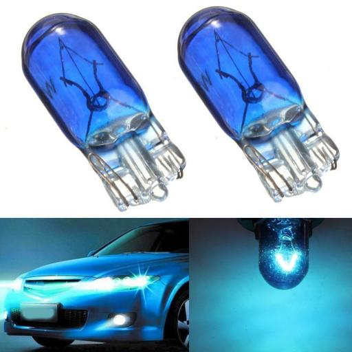 EB501B Bulbs Capless 12v-5w W2.1x9.5D BLUE Car Auto Van Driving Light Bulb , Brake, Fog, Indicator , Bulb Fittings