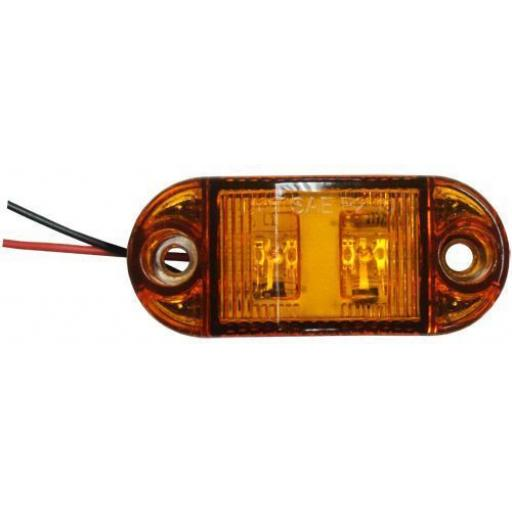LED Side Marker (Amber) - Side Marker Lights Lamp Truck Van Lorry Trailer Indicators 12V 24V