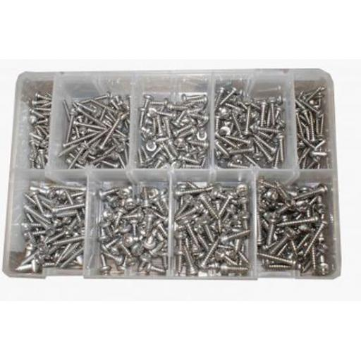 Assorted Stainless Steel Self Tapping screws (450) Self Tapper Pan Head Screws Pozi BZP Tappers A2