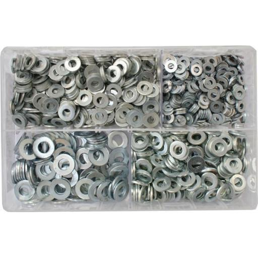 Assorted Flat Washers Imperial - BZP (Table 3) used with Nuts and Flat Washers 8.8 High Tensile Fasteners Bolts Set Screws Metric