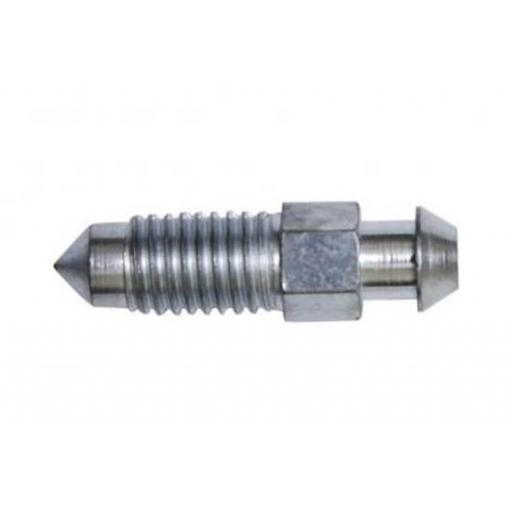 Brake Pipe Bleed Screws M7 x 1 (10)  - Brake Line Roll Tube Piping Joint Union Hosing Car Van Auto Garage