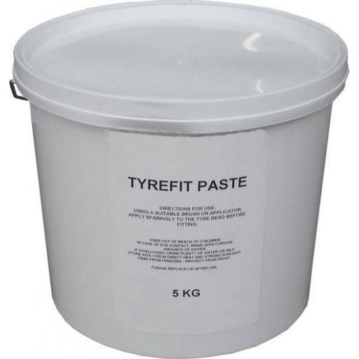 Tyre Mounting Paste (5Kg tub)  -universal tyre mounting / demounting paste for all tires/rims Puncture