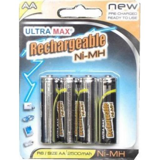 Rechargeable Battery/Batteries AA (4) - Rechargeable Battery/Batteries AA Ni-MH Phone Remote Camera Toys