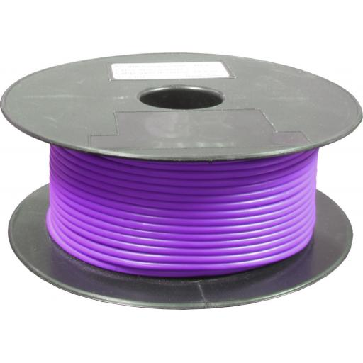 Single Core Cable 28/030 x 50m Purple - Car Van Truck Tractor lorry Automotive Auto Electric Marine Cable Round Trailer Wire Wiring  PVC
