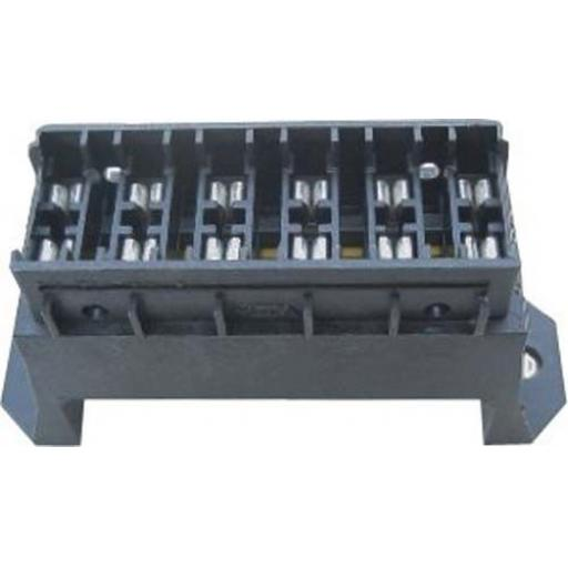 Blade Fuse Box (6 way) -  Car Auto Wiring Electrical Female Connectors - Auto Cable
