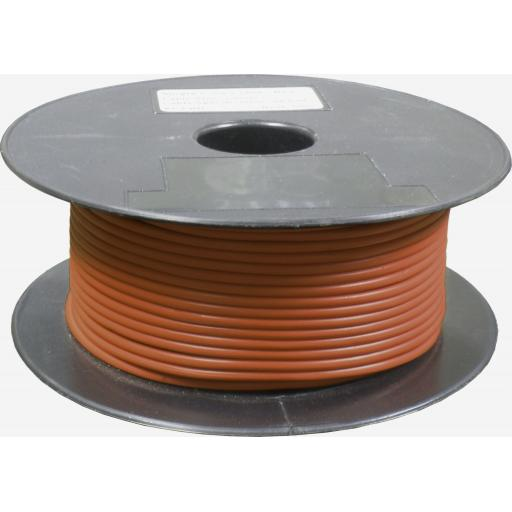 Single Core Cable 28/030 x 50m Brown - Car Van Truck Tractor lorry Automotive Auto Electric Marine Cable Round Trailer Wire Wiring PVC