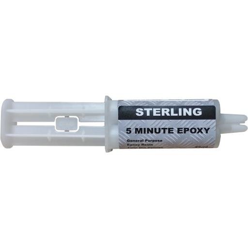 Sterling Epoxy Resin Double Syringe - Adhesive Glue Metal Rubber Glass Plastic