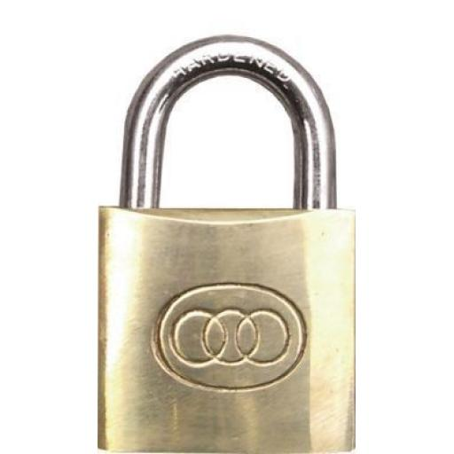 Brass Padlock 50mm - 2 keys Tool Locker Security Lock Shed Gate Luggage