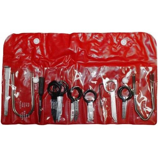 Radio Release Tool Set - Car Auto Stereo CD Radio Head Unit Release Removal Key Tool Set Dash Audio Tool