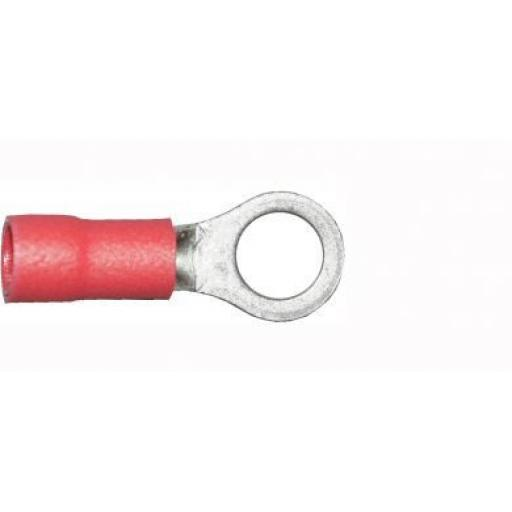Red Ring 5.3mm (2BA)(crimps terminals)  - Red Car Auto Van Wiring Crimp Electrical Crimping Ring Connectors - Auto Electric Cable Wire