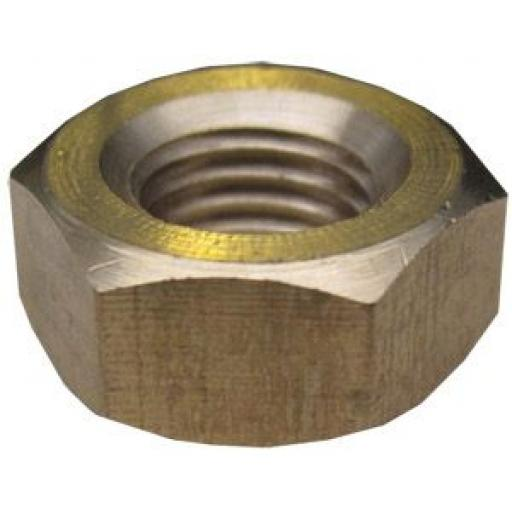 """1/4"""" UNF Brass Exhaust Manifold Nuts - High Temperature"""