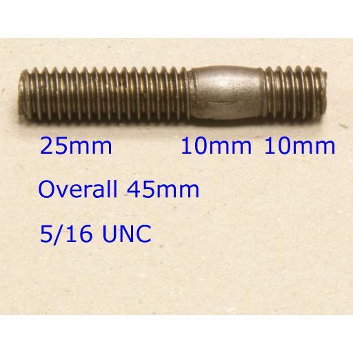 Stud 5/16 UNC x 1-1/16 - Ford (20) Car Auto Exhaust Manifold Studs