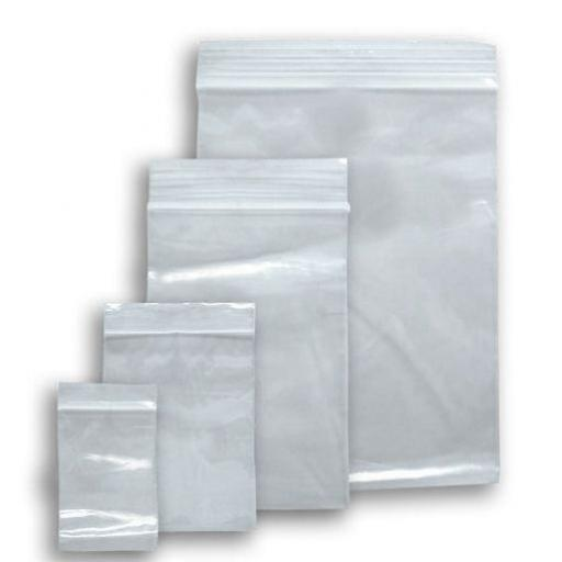 "1000 Box of Re Sealable Polythene Bags  (2 1/4 x 3"") - Clear Plastic Polythene Re-Sealable Wallet Grip Seal  (2 1/4 x 3"") Bags"