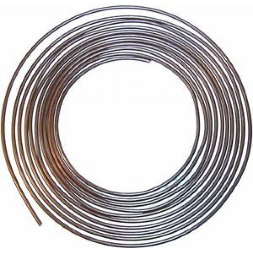 Brake Pipe 3/16 Cupro Nickel - Copper Cupro Nickel Kunifer Brake Pipe Repair Tubing 25ft BS EN12449 Roll