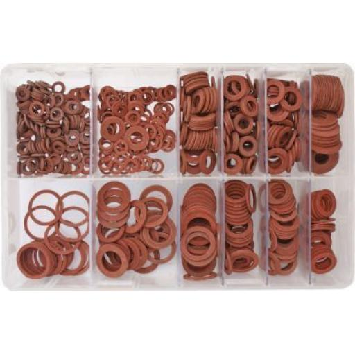 Assorted Box of  Fibre Washers IMPERIAL (610) - Red Fiber Board Seals Plumbing Heating Seal Tap Boiler