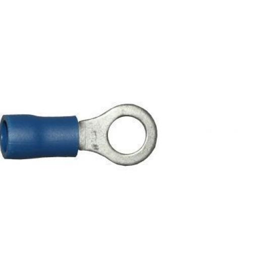 Blue Ring 5.3mm (2BA) (crimps terminals) -  Blue Car Auto Van Wiring Crimp Electrical Crimping Ring Connectors - Auto Electric Cable Wire