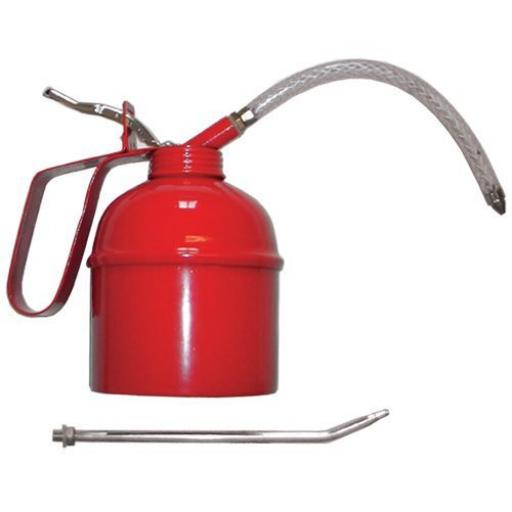 Oil can (500ml) inc flexi and rigid spout Thumb Pump Workshop Tool Oiler