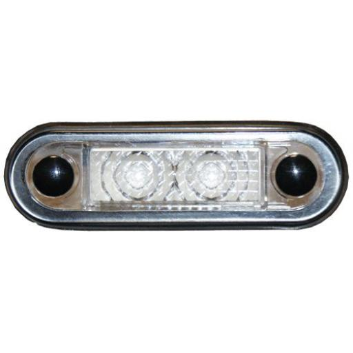 White - LED Side Repeater Lamp (Clear Lens) Indicator Light