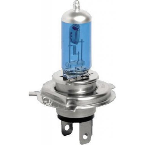 EB472-B Bulbs Halogen 12v-60/55w H4 CAP COOL BLUE