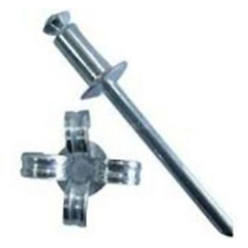 Peel Rivets 4.8 X 20mm (250) - Aluminium Peel Back Rivets, Dome headed 4.8 x 14mm Blind Pop Rivet
