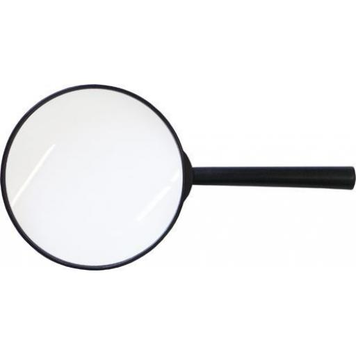 "Silverline Magnifying Glass 4"" Diameter Magnifier - Small Fine Print Map Reading"