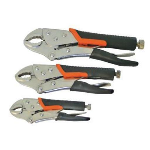 "Silverline Locking Pliers Set (5"" 7"" 10"") - Locking Pliers Wrench Set Vice Adjustable Mole Grips Expert Tool"