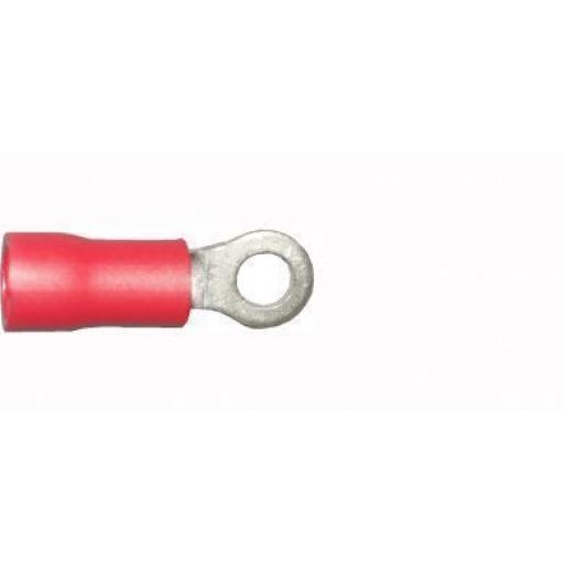 Red Ring 3.2mm (6BA)(crimps terminals)  - Red Car Auto Van Wiring Crimp Electrical Crimping Ring Connectors - Auto Electric Cable Wire