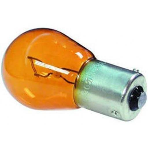 EB588 Bulbs Stop/Flasher 24v-21w BAU 15S AMBER - Commercial Truck Lorry HGV Trailer Light Bulb