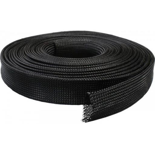 25mm Expandable Braided Sleeving - Braid Cable Sleeve Cover - Expandable, Wire Harness, Marine, Auto, Sheathing