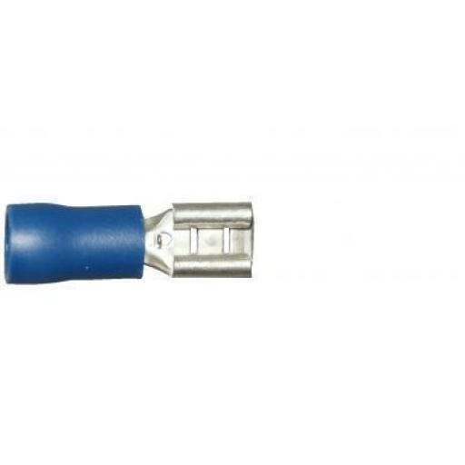 Blue Female Spade 4.8mm (crimps terminals)  -  Blue Car Auto Van Wiring Crimp Electrical Crimping Spades Connectors - Auto Electric Cable Wire