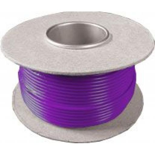 Single Core Cable 14/030 x 50m Purple - Car Van Truck Tractor lorry Automotive Auto Electric Marine Cable Round Trailer Wire Wiring  PVC