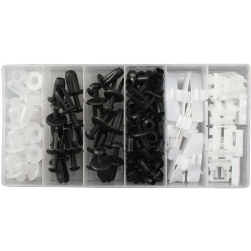 Assorted Trim Clips - Mercedes Benz (103pc) - Plastic Fastener Retainer Fixing Bodyshop Car Van Auto Crash Repair