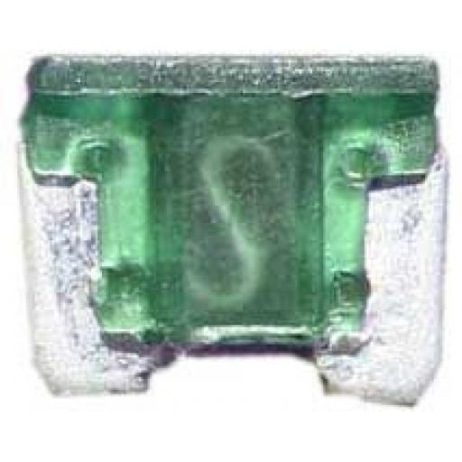 Micro Blade Fuses 30 Amp ( Green) - 30A Green Micro Small  Blade Wedge Spade Fuse - Car Van Truck  Auto SUV Low Profile  Wire Cable Wiring Electric