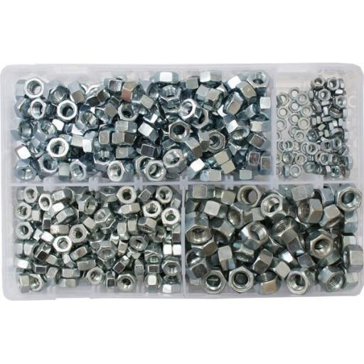 Assorted Steel Nuts 3/16-3/8 UNF (600)used with Nuts and Flat Washers 8.8 High Tensile Fasteners Bolts Set Screws Imperial