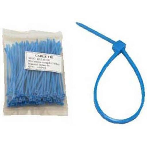 Cable Ties 300mm x 4.8mm Blue  - Nylon Plastic Zip Wire Tie Wraps fastening electrical wiring