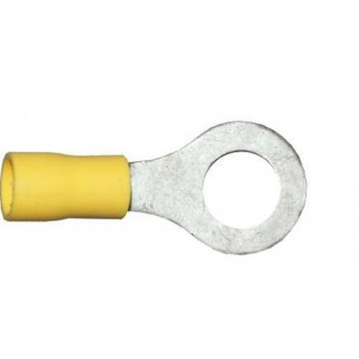 Yellow Ring 8.4mm (5/16) (crimps terminals) - Yellow Car Auto Van Wiring Crimp Electrical Crimping Ring Joiner Connectors - Auto Electric Cable Wire